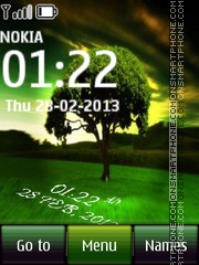 Tree Digital Clock tema screenshot