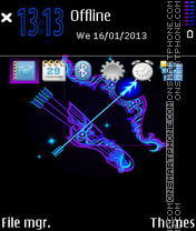 Sagittarius Neon 01 theme screenshot