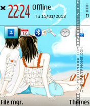 Romantic Beach 01 theme screenshot