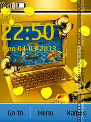 Golden theme es el tema de pantalla
