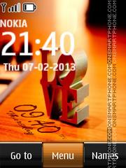 Love Digital Clock 04 theme screenshot