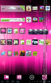Pink ICS tema screenshot