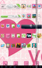 Pink Love 05 tema screenshot