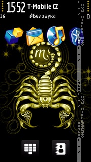 Scorpion black and gold. tema screenshot