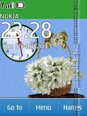 Snowdrops in basket theme screenshot