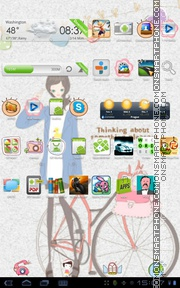 Girl 02 theme screenshot