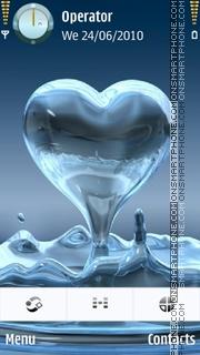 Hearts tema screenshot