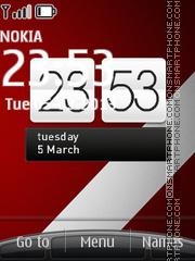 Red n White swf theme screenshot