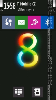 W8 Style tema screenshot