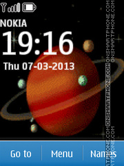 Saturn tema screenshot