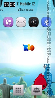 Angry Birds Rio 02 theme screenshot