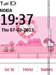 Hello Kitty 44 tema screenshot
