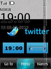 Twitter Clock Theme-Screenshot