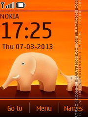 Elephants theme screenshot