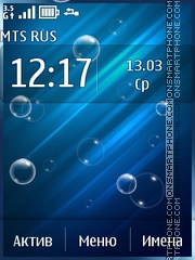 Blue abstract with bubbles theme screenshot