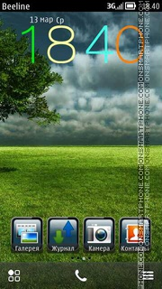 Grassland theme screenshot