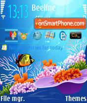 Marine Light theme screenshot