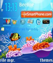 Скриншот темы Marine Light