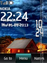 Cabin Digital Clock theme screenshot
