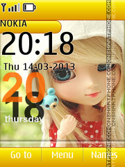 Cute Doll 08 theme screenshot