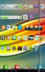 3D icons tema screenshot