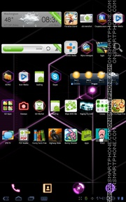 Cyber Pink tema screenshot