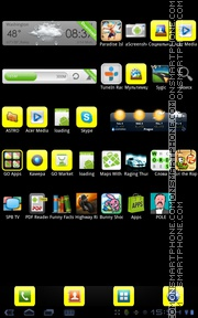Yellow Basics theme screenshot