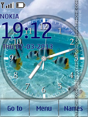 Tropical Clock 01 theme screenshot