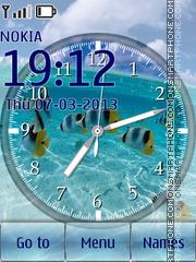 Tropical Clock 01 es el tema de pantalla