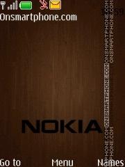 Nokia Wood 02 es el tema de pantalla