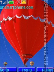 Скриншот темы Balloons In Sky