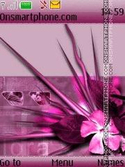 Pink Flora es el tema de pantalla