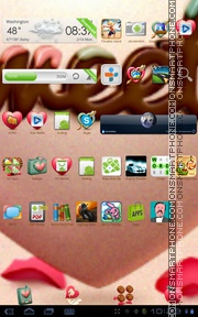 Valentine Sweetie tema screenshot