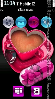 Coffee Love HD v5 es el tema de pantalla