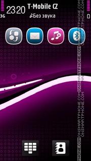 Black Magenta tema screenshot