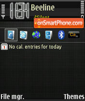 GrayM@Q theme screenshot