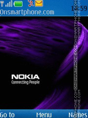 Purple Nokia Logo theme screenshot