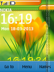 Spring Yellow Tulips theme screenshot