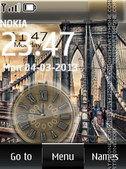 Bridge dual clock theme screenshot