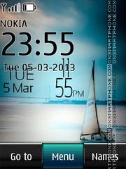 Скриншот темы Sail Digital Clock