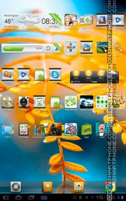Golden Leaf theme screenshot