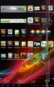 Capture d'écran Xperia Color thème