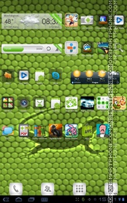 Iguana Green Skin theme screenshot