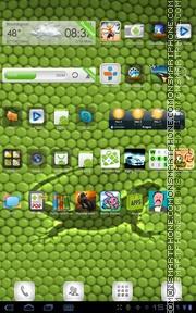 Скриншот темы Iguana Green Skin