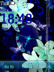 Blue Flowers tema screenshot