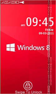 Windows 8 Red theme screenshot