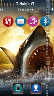 Shark Attack 3d theme screenshot