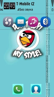 AngryBird theme screenshot