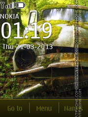 Car In Forest Theme-Screenshot