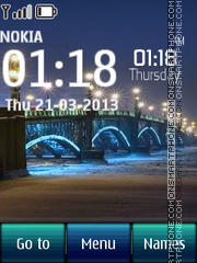 Bridge Digital Clock 01 tema screenshot